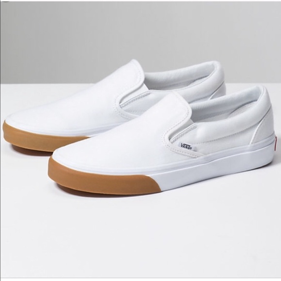 Vans Gum Bumper Authentic True White $50 men sizes 7.5 13